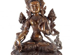 Statue of White Tara Deep Carving