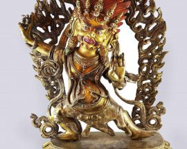 Statue of Vajrapani Painted Face
