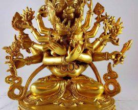 Copper Statue of Guhyasamaja