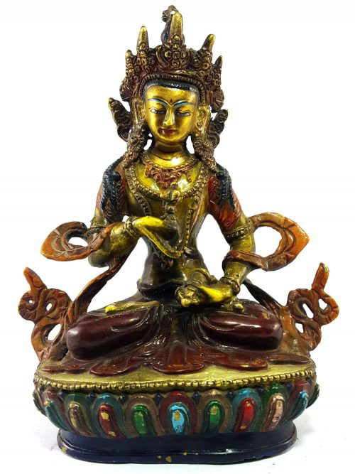 Vajrasattava Handmade Statue Thangka Color finishing