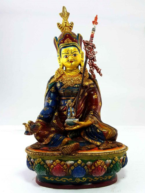 Padmasambhava Handmade Statue Thangka Color finishing