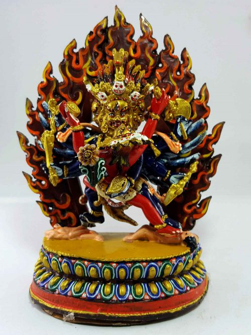Haygriva Handmade Statue Thangka Color finishing