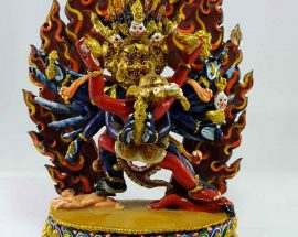 Vajrakillaya Handmade Statue Thangka Color finishing