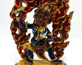 Vajrapani Handmade Statue Thangka Color finishing