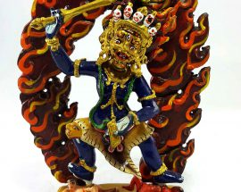 Khadga Pani Handmade Statue Thangka Color finishing
