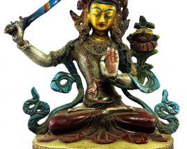 Manjushree Handmade Statue Thangka Color finishing