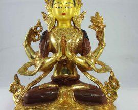 Chenrezig Statue Painted Face