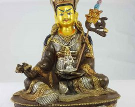 Padmasambhava Statue Gold and Painted Face