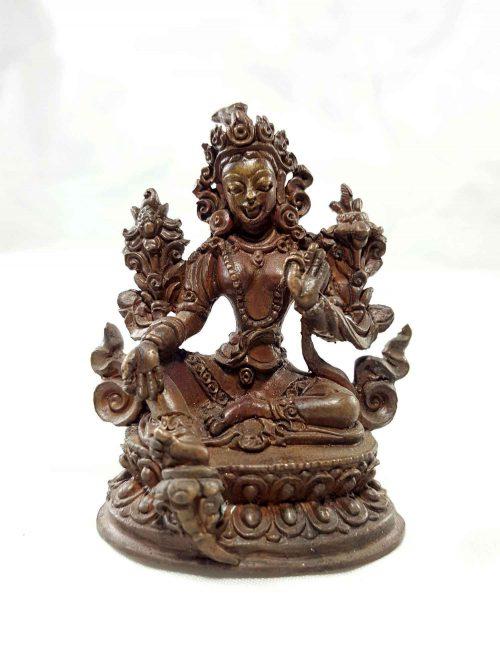 Green Tara Copper Miniature Statue