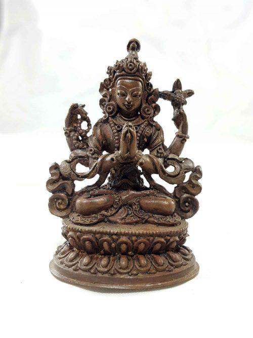 Chenrezig Copper Miniature Statue