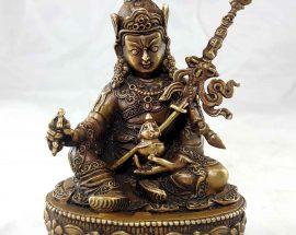 Padmasambhava Copper Miniature Statue
