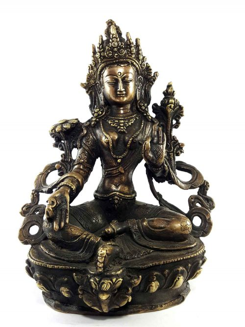 Brass Green Tara Statue