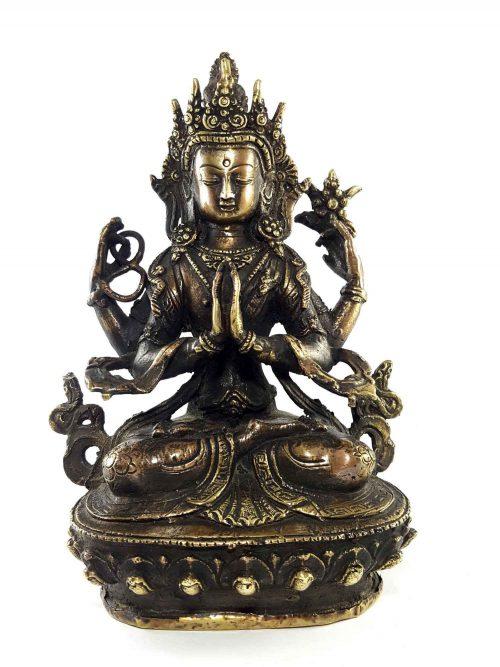 Brass Chenrezig Statue