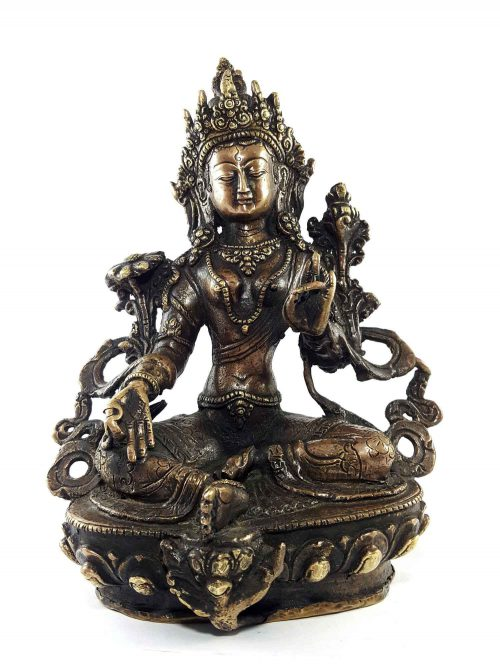 Brass Green Tara Statue