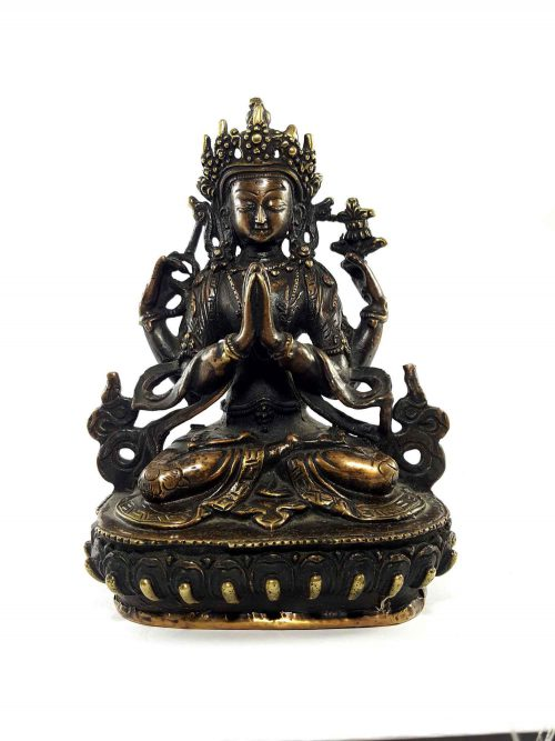Now Rare Brass Chenrezig Statue