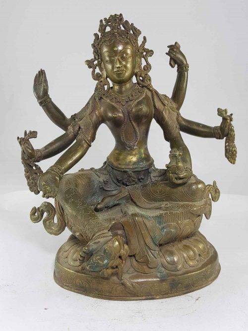 Antique Statue of Vasundhara
