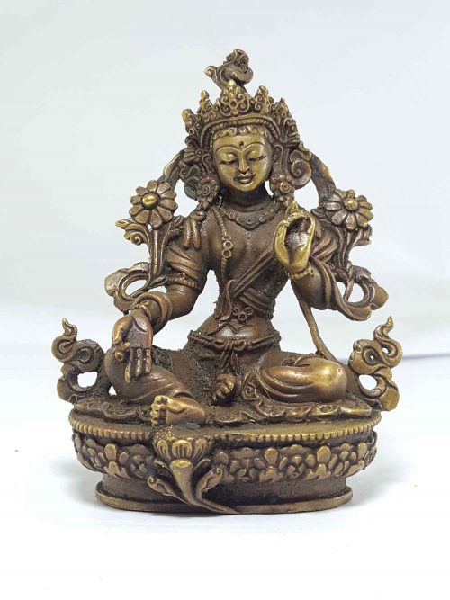 Small statue of Green Tara