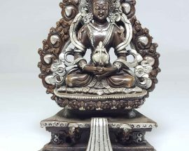 Statue of Aparmita On A Throne