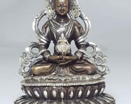Statue of Aparmita with Double Lotus Base