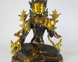 Tibetan Green Tara Statue Sand Casting