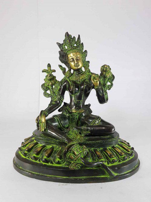 Double Lotus Arya Tara Statue Sand Casting