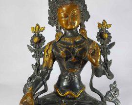 Arya White Tara Statue Sand Casting Base Less
