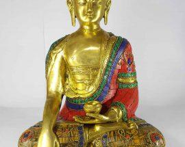 Shakyamuni Buddha Statue Sand Casting Stone Setting