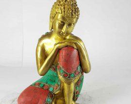 Resting Buddha Statue Sand Casting Stone Setting