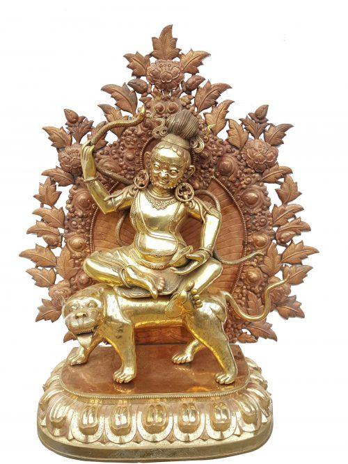 Bag Bhairav Statue Waiting For Patina finishing
