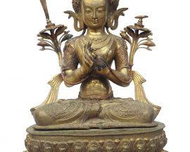 Manjushri Statue Waiting Paitna finishing