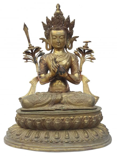 Manjushri Statue Waiting Paitna finishing
