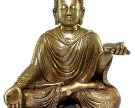 Statue of Sitting Dipankar Buddha
