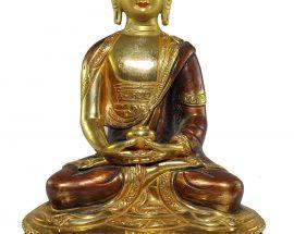 Statue of Amitabaha Buddha painted Face