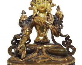 Statue of White Tara Painted Face