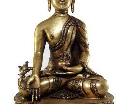 Medicine Buddha Statue Bronze finishing