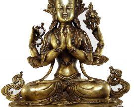 Chenrezig Khercheri Avalokitesvara Statue Bronze finishing
