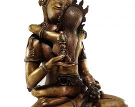 Vajrasattva Shakti Statue Bronze finishing