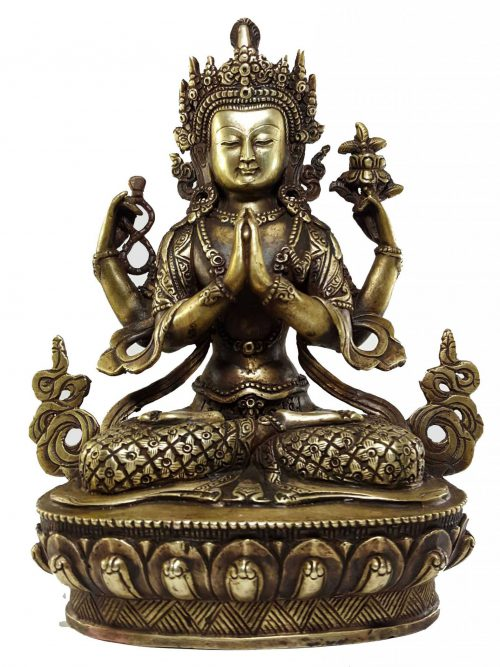 Chenrezig Khercheri Avalokitesvara Statue Bronze finishing