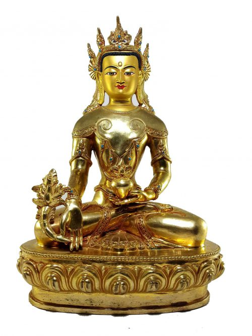 Medicine Buddha Statue with Painted Face