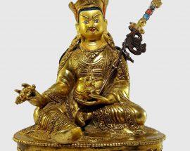 Guru Rinpoche Padmasambhava Statue  with Painted Face