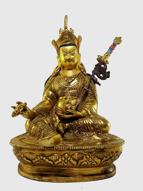 Guru Rinpoche Padmasambhava Statue  with Painted Face