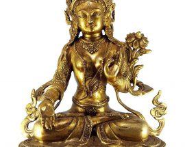 Statue of White Tara Single Lotus