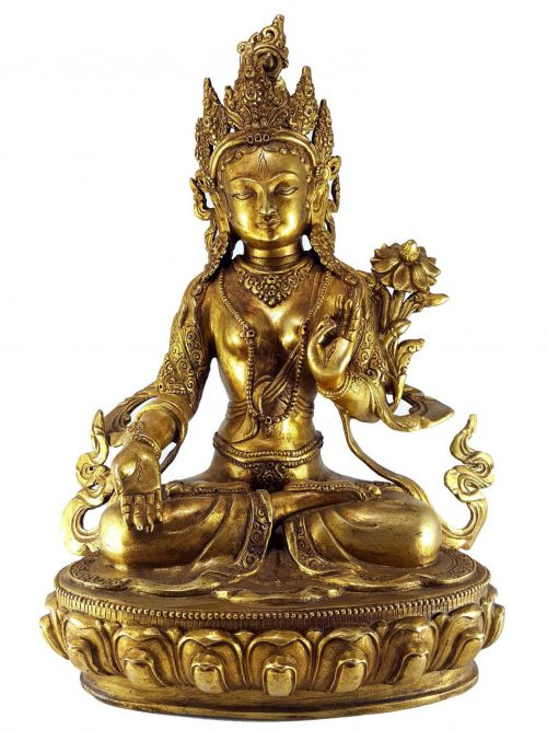 Statue of White Tara Single Lotus