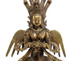 Statue Naga Kanya Bronze finishing