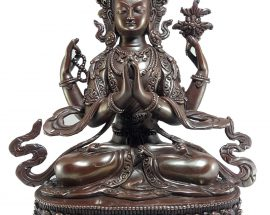 Statue of Chenrezig Copper Plated