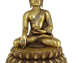 Statue of Shakyamuni Buddha with Double Lotus Base