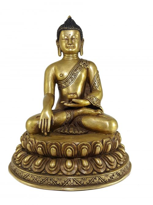 Statue of Shakyamuni Buddha with Double Lotus Base