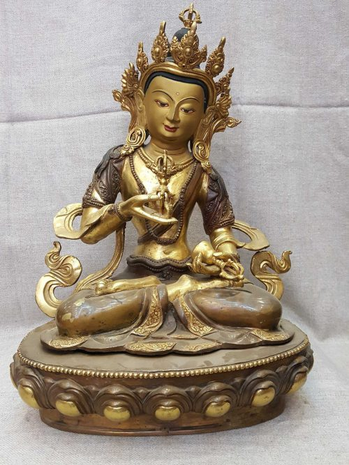 Statue of Vajrasattva and Painted Face Face Repari On Request
