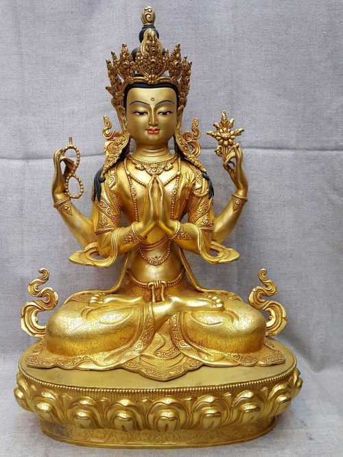 Statue of Avalokitesvara Painted Face