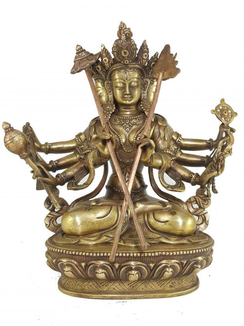 Statue of Sitatapatra White Umbrella Goddess Bronze finishing